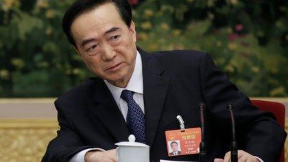 Chen Quanguo, Secretario del Partido Comunista de la Región Autónoma Uigur de Xinjiang. Fue alcanzado por las sanciones de los Estados Unidos por violar los derechos humanos de la minoría musulmana (Reuters)