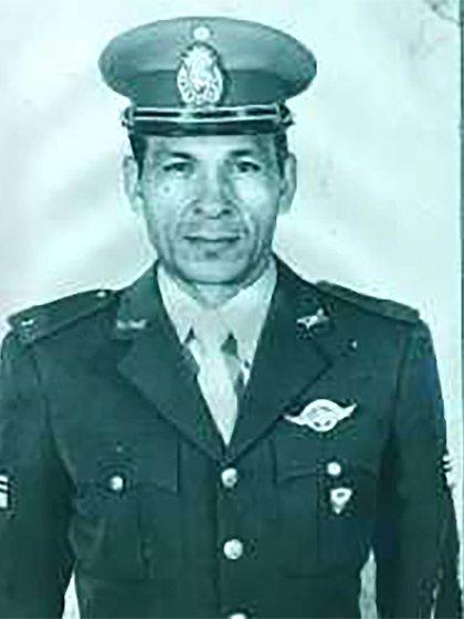 El sargento Ramón Gumersindo Acosta, comando de la Gendarmeria Nacional, caído en acción el 10 de junio de 1982