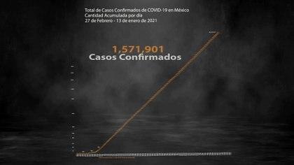 Jusqu'à ce mercredi 13 janvier, il y a 1571901 cas positifs et 136917 décès dus au COVID-19 au Mexique (Illustration: Steve Allen)