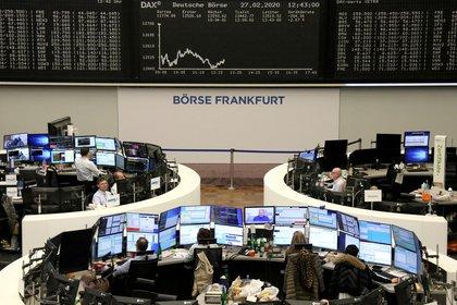 Las pérdidas en la bolsa de Frankfurt (Reuters)