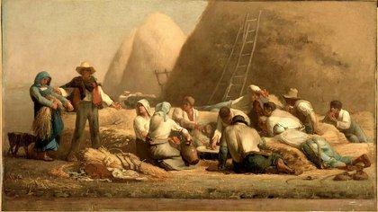 """""""La comida de los segadores"""" (1853) Jean-François Millet"""
