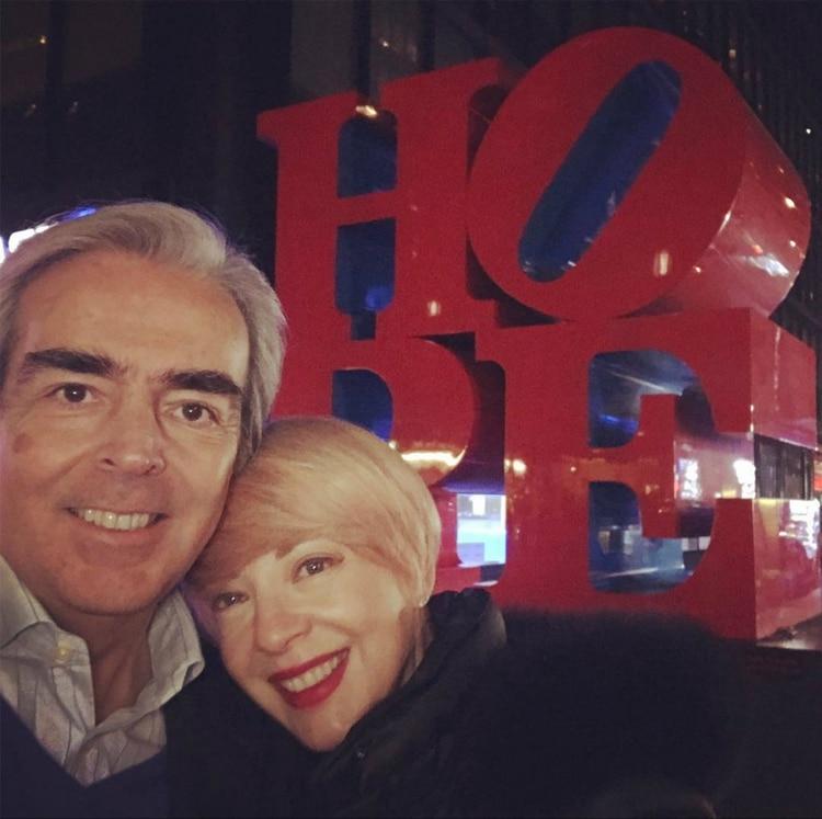 Lorenzo se mantuvo hasta el final con Edith González (Instagram)