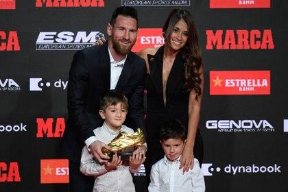 Lionel Messi consiguió su sexta Bota de Oro. (Photo by Josep LAGO / AFP)