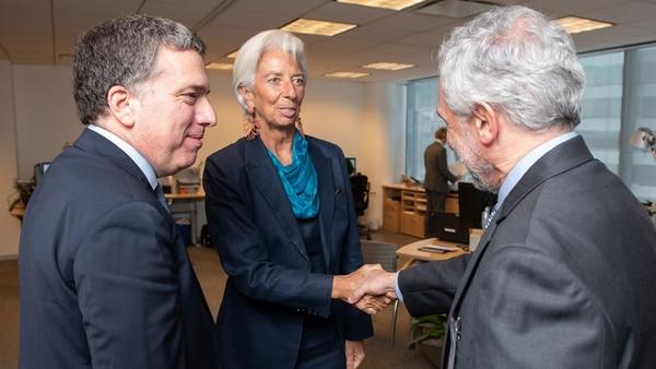 Dujovne le presenta a Lagarde a Gustavo Cañonero, vice del BCRA que nombró Caputo