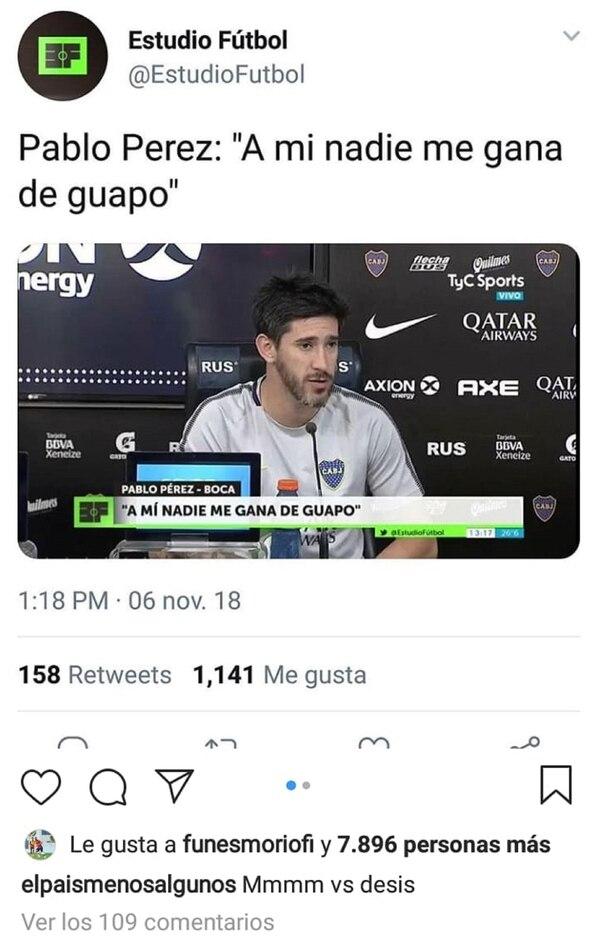 """La publicaciónde la controversia con el """"me gusta"""" de """"funesmoriofi"""", la cuenta de Ramiro"""