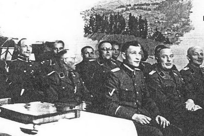 Alumnos en una clase espionaje para colaboracionistas del régimen nazi en Bad Rabka (HEART)