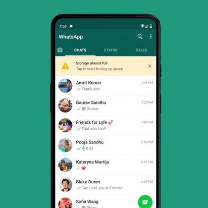 Esta nueva opción permite gestionar mejor el espacio utilizado en la app