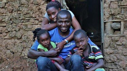 Familias desplazadas en la República Democrática del Congo