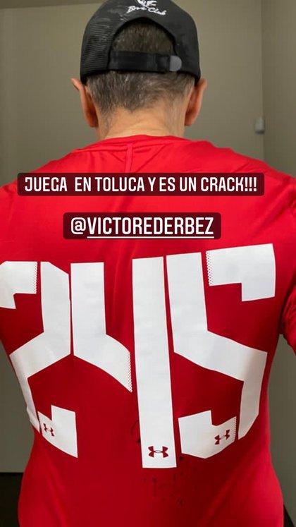 Vector Estrada Derbes plays basic forces and wears the number 245 (Photo: Instagram @ ederbez)