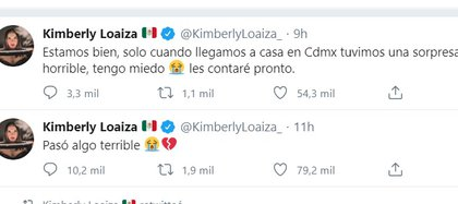 Los alarmantes mensajes de Kimberly Loaiza en Twitter