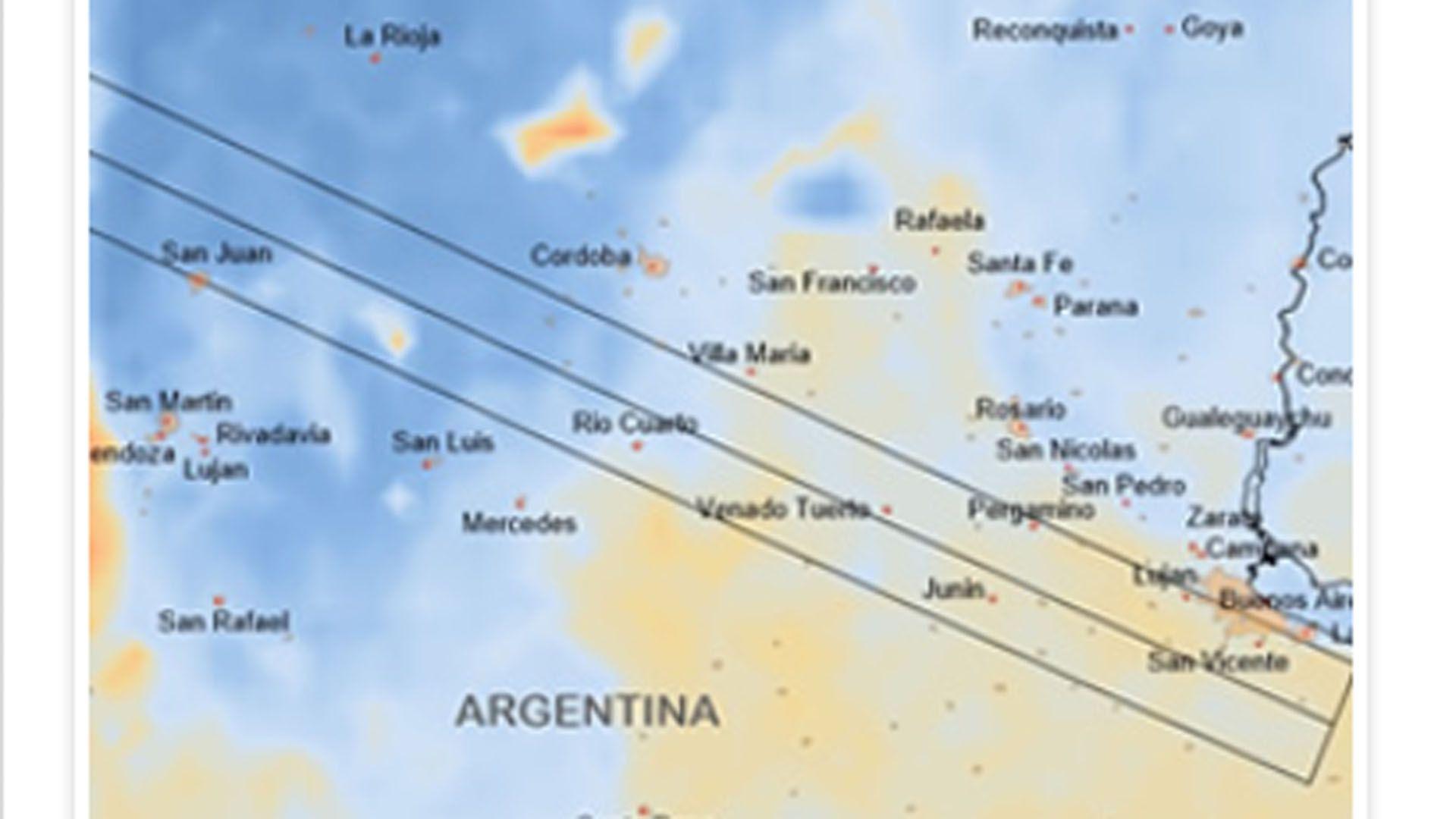 El tránsito del eclipse solar en territorio argentino