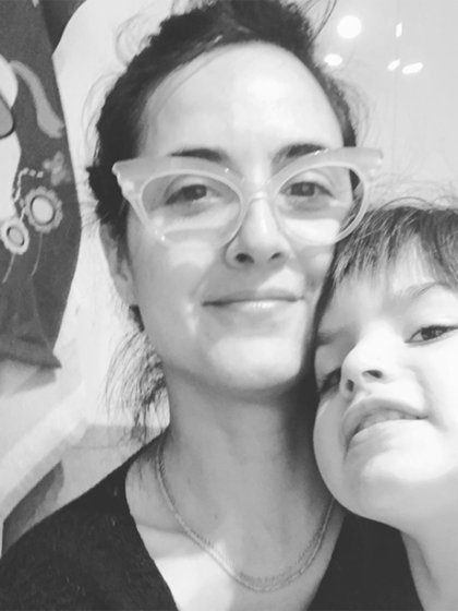 Julieta Diaz y su hija Elena