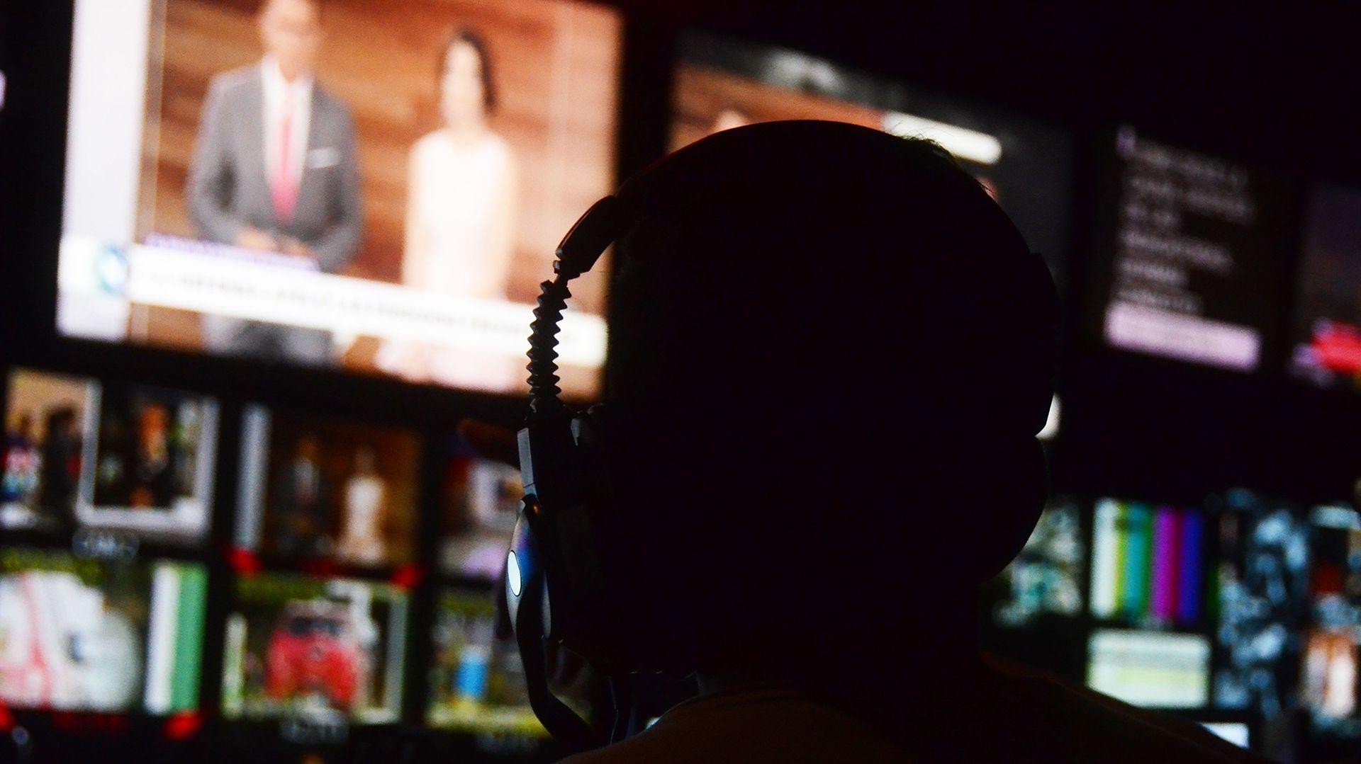 """El control: la sala de comandos de """"Telefe Noticias"""""""