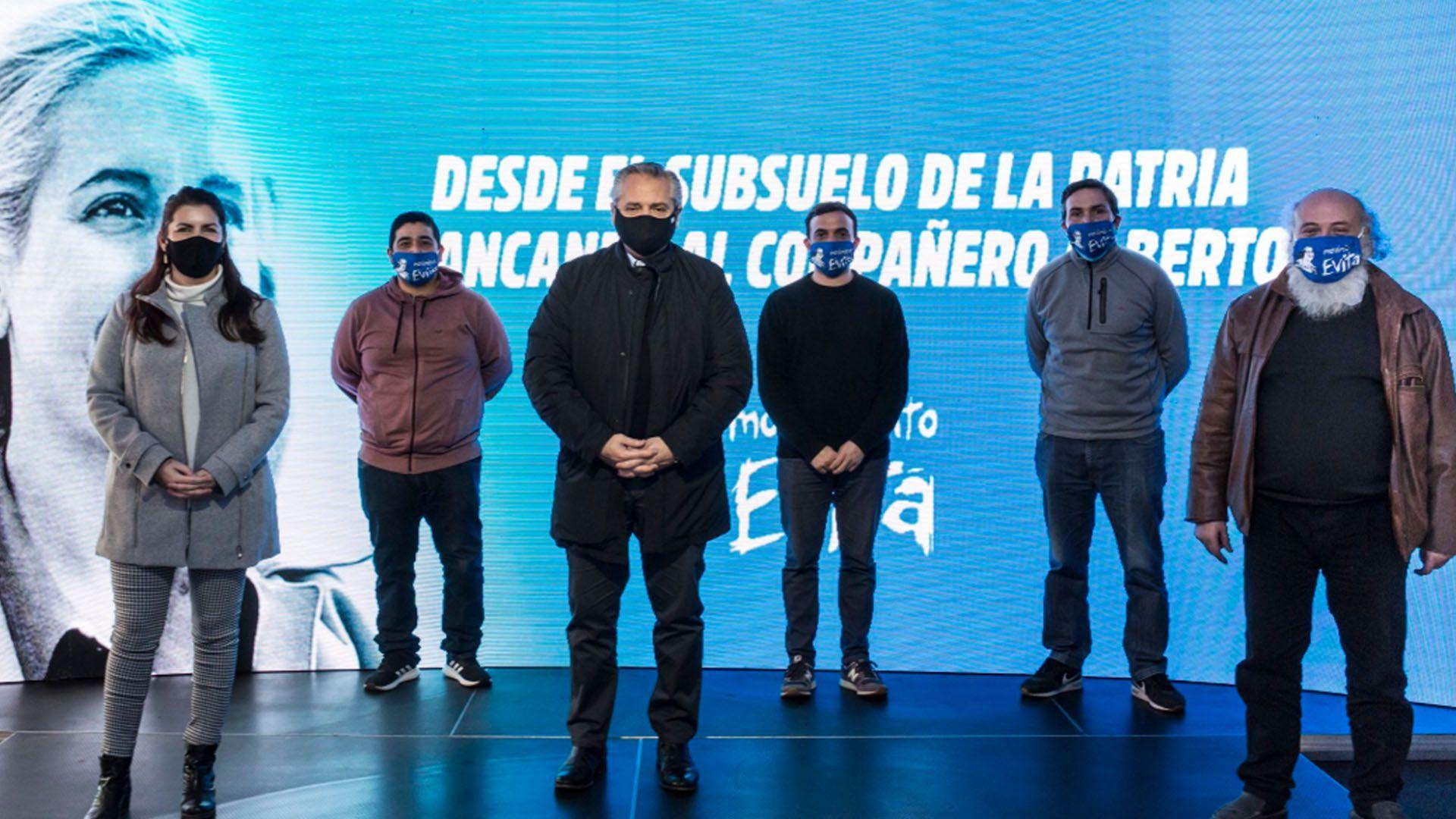 Alberto Fernández Movimiento Evita