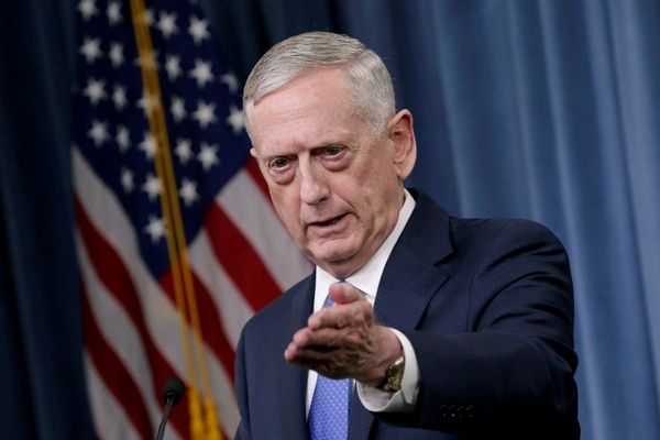 El secretario de Defensa de Estados Unidos, James Mattis