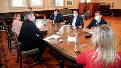 Máximo Kirchner se reunió con el gobernador de La Rioja, Ricardo Quintela (@DaniloAFlores)