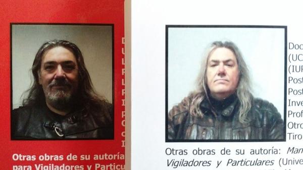 Marcelo Eduardo Soriano: foto de autor en la contratapa de sus libros.