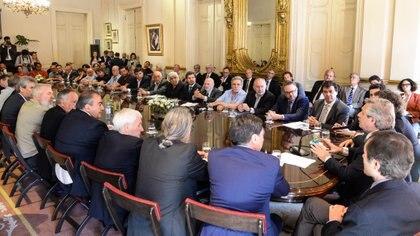 Encuentro del Presidente con empresarios y sindicalistas