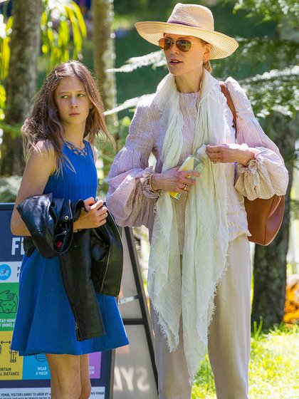 Family day. Nicole Kidman, her husband, Keith Urban, and their children Sunday Rose and Faith Margaret attended a live music event at Vaucluse House in Sydney, Australia