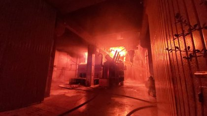 Imagen al interior del incendio en estación de energía del Metro ocurrido el pasado 9 de enero (Foto: Cuartoscuro)