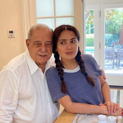 Sami Hayel Domínguez, padre de la actriz, es un acaudalado empresario en México (Foto: Instagram @salmahayek)