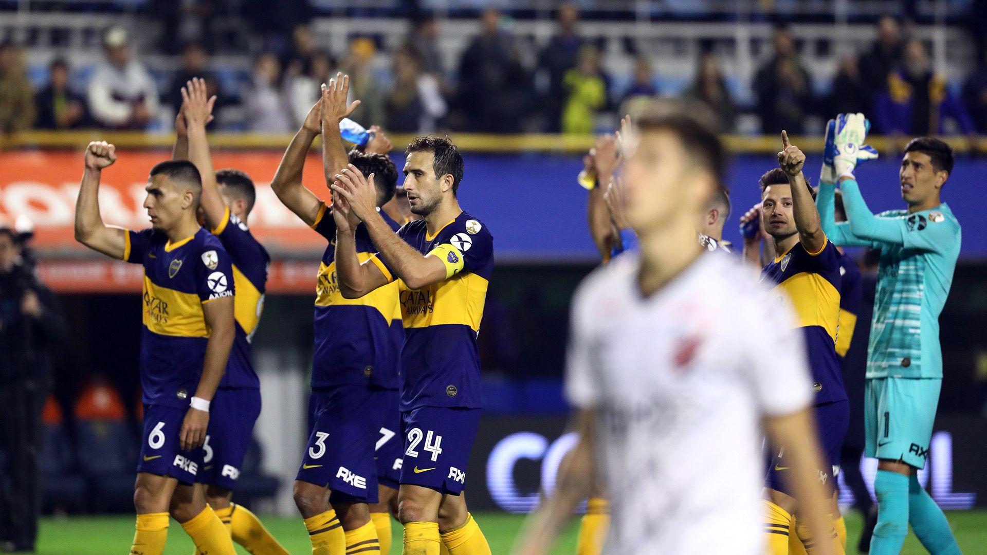 Boca avanzó a los cuartos de final tras vencer en un global por 3 a 0 a Atlético Paranaense y se medirá ante LDU de Ecuador (Foto Baires)