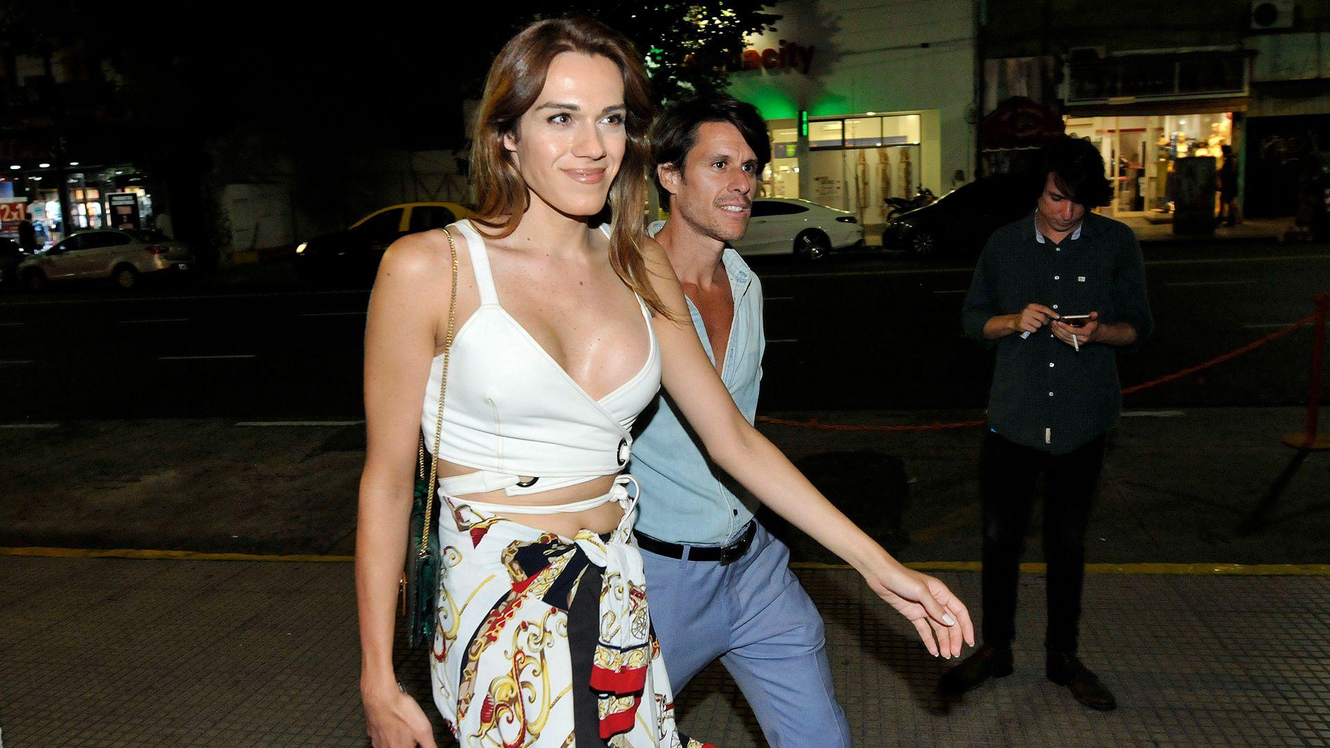 La actriz fue al evento junto a Juan Ignacio Pagliere (Crédito: Dario Batallán/Teleshow)