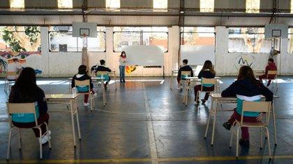 Las actividades de revinculación son en predios al aire libre que, en general, las escuelas no disponen