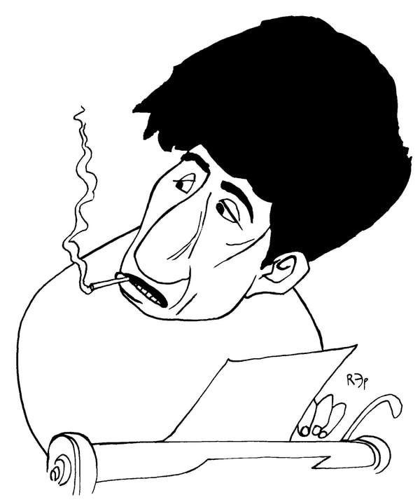 Caricatura de Oscar Masotta, por Rep