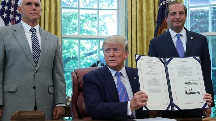 El presidente Donald Trump, en el Salón Oval (Reuters)