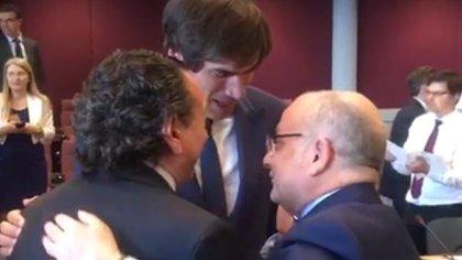 Dante Sica, Horacio Reyser y Jorge Faurie el viernes pasado en Bruselas