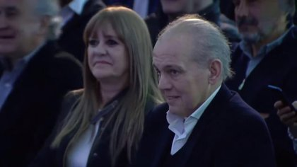 Alejandro Sabella estuvo acompañado por su mujer, Silvana Rossi