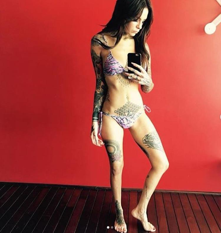 Cande Tinelli publicó las fotos para advertir a sus seguidores sobre la anorexia y la bulimia