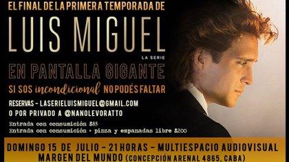 Una de las convocatorias para ver el final de la serie sobre Luis Miguel en Buenos Aires
