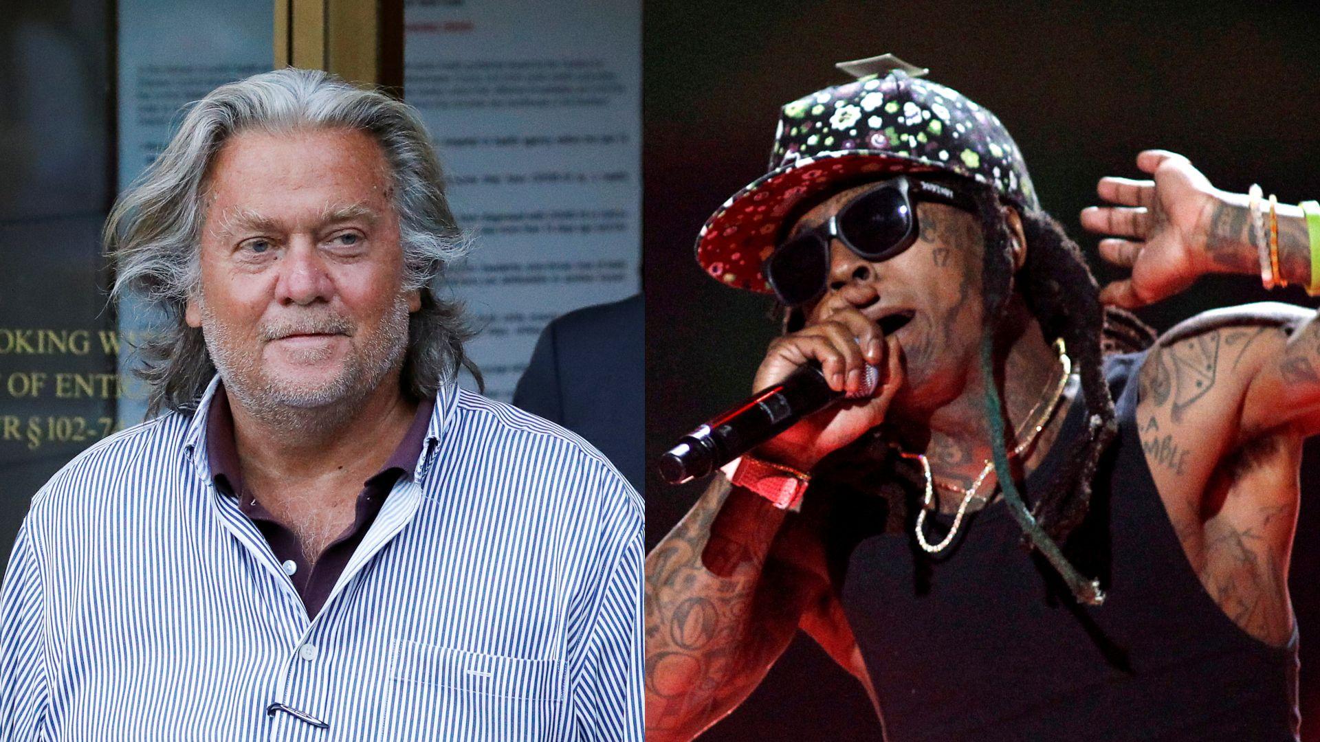 Steve Bannon y Lil Wayne.
