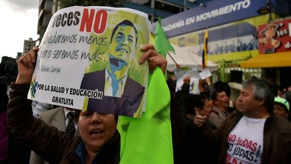 Correa se puso a la cabeza de la campaña por el NO (AFP)