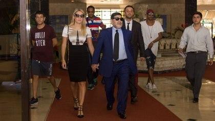 Diego Maradona y Rocío Oliva viajaron juntos por el mundo (Foto: Esmeralda  Velasquez)