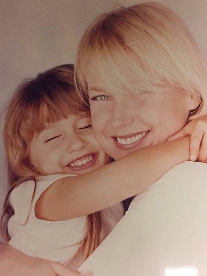 Xuxa con su hija Sasha cuando era pequeña
