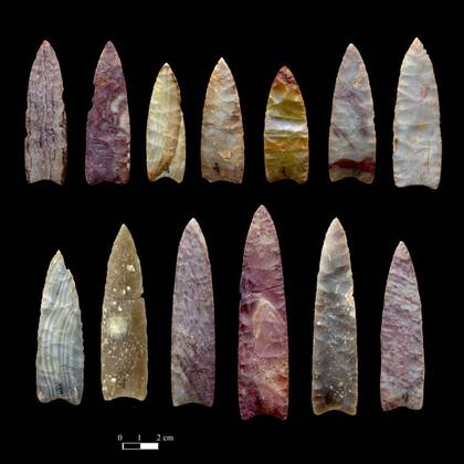Puntas de lanza de 13 000 años de antigüedad halladas en Colorado (Estados Unidos). Chip Clark, Smithsonian Institution