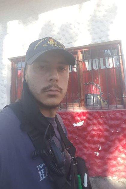 Pablo Cora, bombero voluntario de El Hoyo