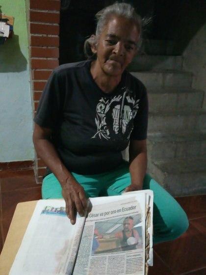 Milagros César, madre de José grgorio, asesinado en Caracas (foto: Elizabeth Ostos)