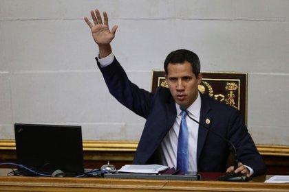 En la imagen, el l�der opositor venezolano Juan Guaid�. EFE/Rayner Pe�a/Archivo