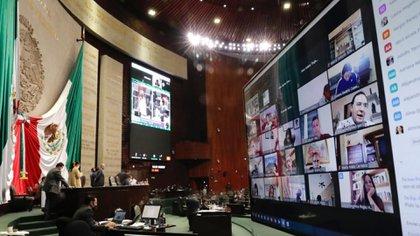 A diferencia del Senado, la Cámara de Diputados aprobó un formato de sesiones semipresenciales para llevar a cabo votaciones de forma remota (Foto: Cuartoscuro)