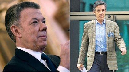 Expresidente de Colombia, Juan Manuel Santos - José Roberto Prieto, exgerente de campaña presidencial 2014.