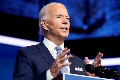 El presidente electo de EE. UU., Joe Biden, anuncia el equipo de seguridad nacional en la sede de su equipo de transición en Wilmington, Delaware, EE. UU., 24 de noviembre de 2020. REUTERS / Joshua Roberts