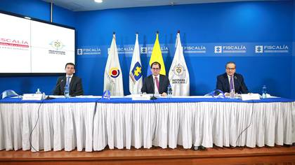Felipe Córdoba, Contralor General de la Nación; Francisco Barbosa, Fiscal General de la Nación; Fernando Carrillo, Procurador General de la Nación.