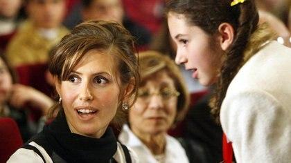Asmaa al-Assad, nació en Londres. Allí conoció a Bashar cuando éste estudiaba medicina. En ese momento trabajaba como asesora financiera en el JP Morgan. Salah Malkawi/Getty Images)