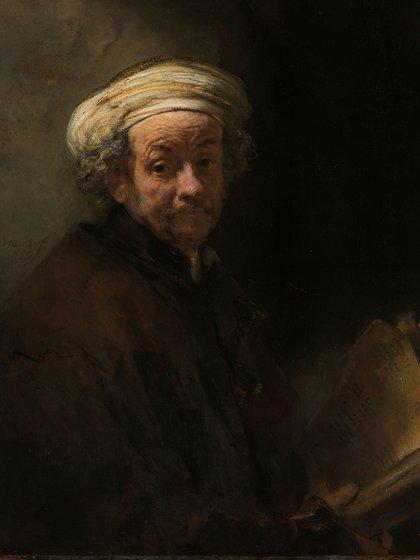 Autorretrato como el apóstol Pablo, de Rembrandt, 1661. Pieza del Rijkmuseum.