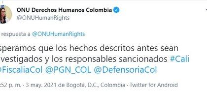 Foto: Twitter ONU Colombia.