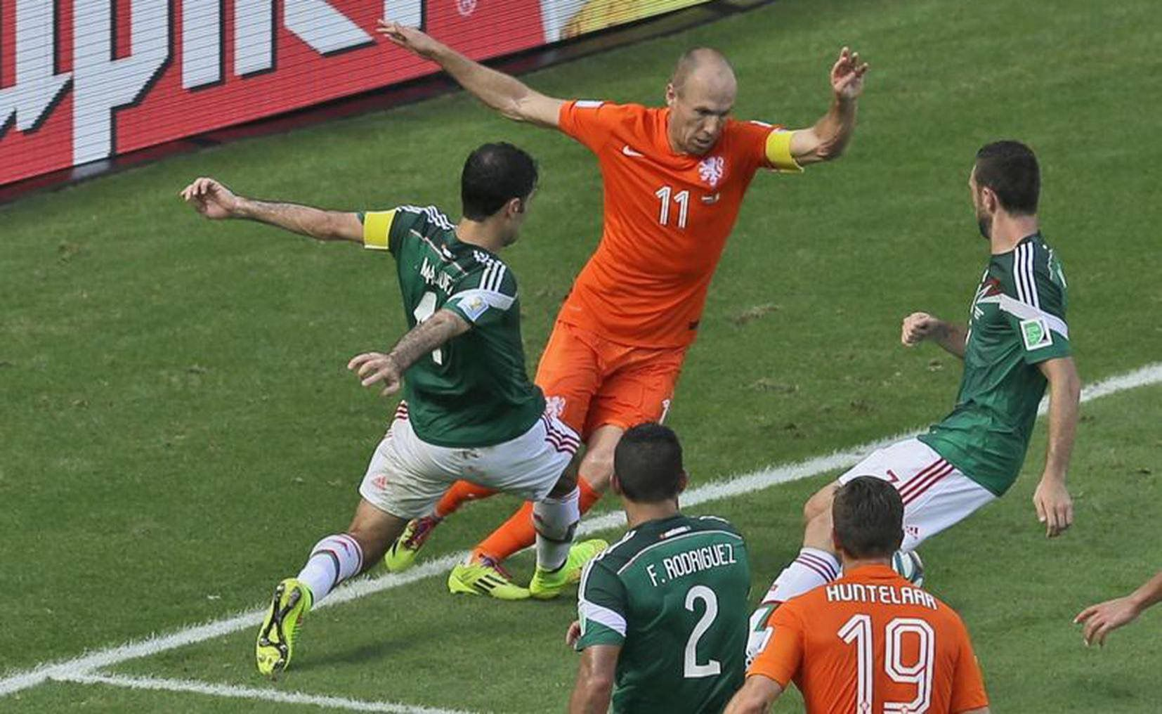 México vs Holanda 2014 (Foto: Twitter@PabloCarrilloL)